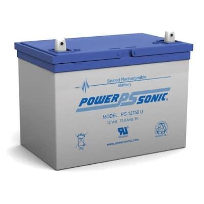 12-Volt 75 Ah Sealed Lead Acid (SLA) Rechargeable Battery