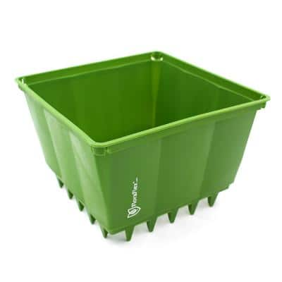 PotPro 8 in. Green Plastic Pot (10-Pack)