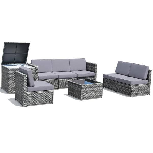 Rattan Wicker Sofa And Table Outdoor, Patio Furniture Couch