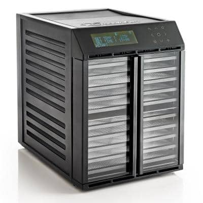 10-Tray Black Electric Food Dehydrator with Smart Controller, 2-Drying Zones with Adjustable Time and Temperatures