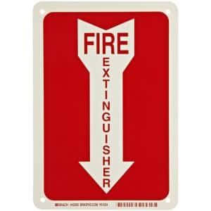 10 in. x 14 in. Fire Extinguisher Sign with Picto