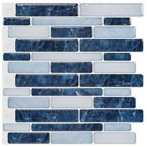 C-Stones Midnight Blue Peel and Stick Backsplash Tile 11.6 in. x 10.5 in. for Kitchen (8.7 sq. ft. / pack)