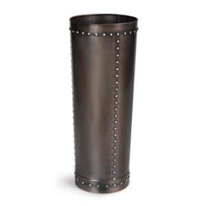 Unique Tall Riveted Bronze Planter for Outdoor or Indoor Use, Garden, Deck, and Patio
