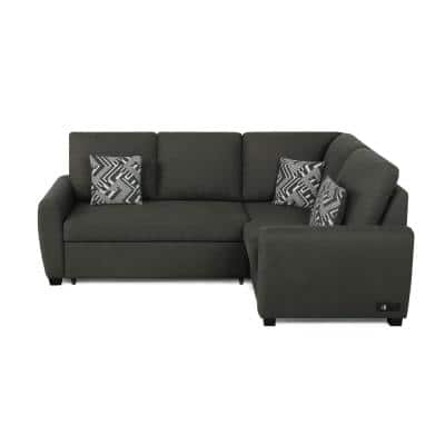Serta 2-Piece Charcoal Fabric Bali Multifunctional Sectional Sofa with USB and Power