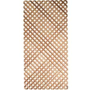 Lattice Redwood Privacy Panel (Common: 1/4 in. x 48 in. x 8 ft.; Actual: 0.25 in. x 48 in. x 96 in.)