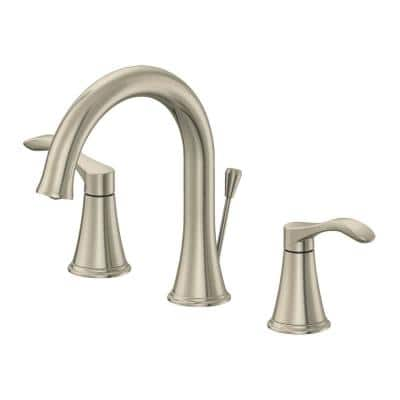 8 in. Widespread 2-Handle Bathroom Faucet with 50/50 Pop-Up in Brushed Nickel