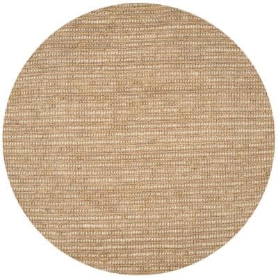 Bohemian Beige/Multi 8 ft. x 8 ft. Round Striped Area Rug