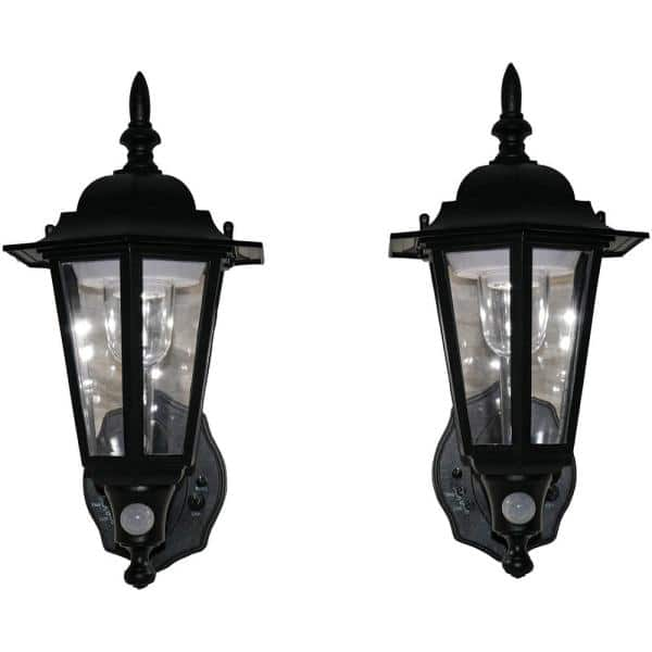 Maxsa 2 Light Black Motion Activated, Imre 2 Light Outdoor Sconce With Motion Sensor