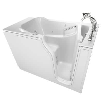 Gelcoat Value Series 52 in. Righ Walk-In Whirlpool and Air Bath Bathtub in White