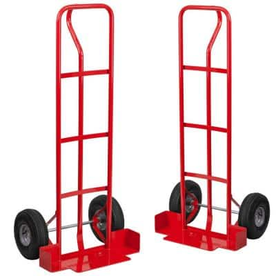 300 lbs. Load Capacity Chiavari Chair Dolly with Wheels Red (Set of 2)