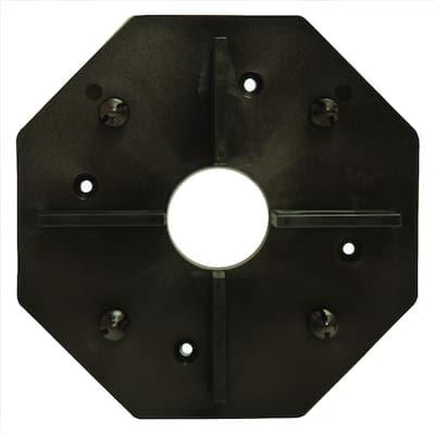 WiseTile Shadowline Black Hardwood Deck Tile Connector