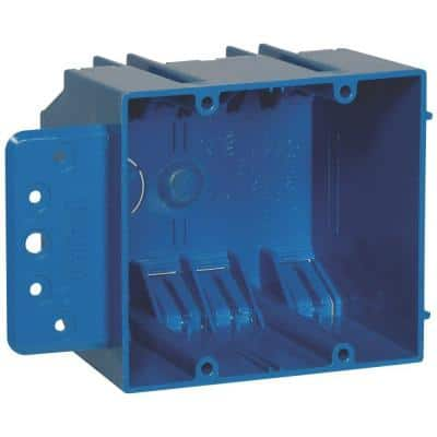 2-Gang 32 cu. in. New Work PVC Electrical Box with Flange