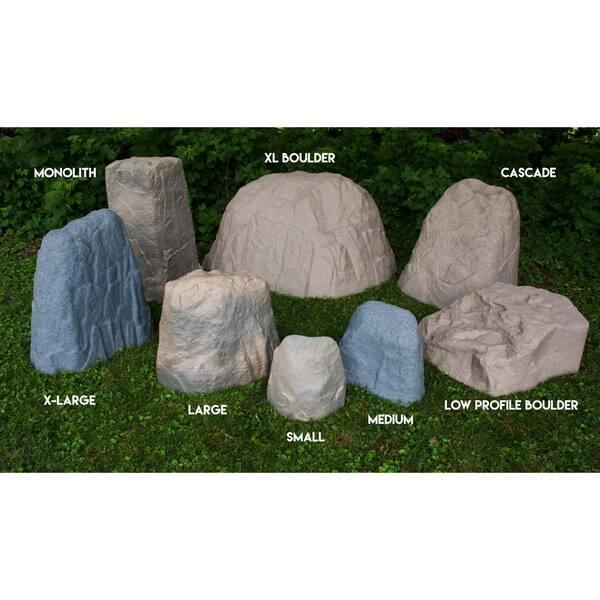 Natural Sandstone Appearance Sandstone, Medium//1 Pack Medium Lightweight Easy to Install Emsco Group Landscape Rock