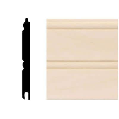 5/16 in. x 3-1/8 in. x 96 in. Basswood Tongue and Groove Wainscot Paneling