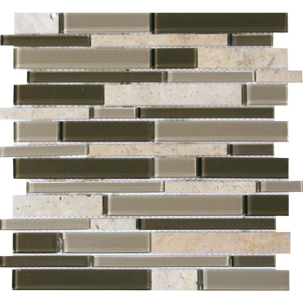 msi kings gate interlocking 12 in x 12 in x 6mm textured glass stone mesh mounted mosaic tile 1 sq ft sglsil kg6mm the home depot