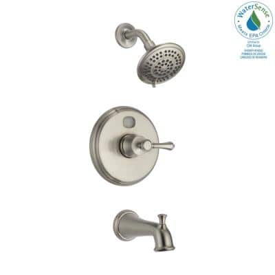 Temp2O LED Digital Temperature Display Single-Handle 5-Spray Tub and Shower Faucet in Brushed Nickel (Valve Included)
