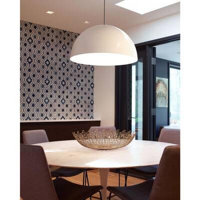 Powell Street 1-Light Gloss White Pendant