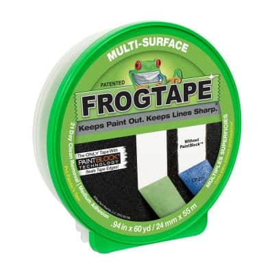 Multi-Surface 0.94 in. x 60 yds. Painter's Tape with PaintBlock (36-Pack)