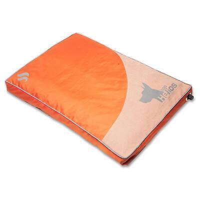 Medium Orange Aero-Inflatable Outdoor Camping Travel Waterproof Pet Dog Mat Bed