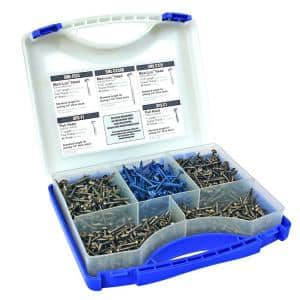 1 in. to 2-1/2 in. Square Drive Round Head Pocket-Hole Screw Kit (675-Pack)