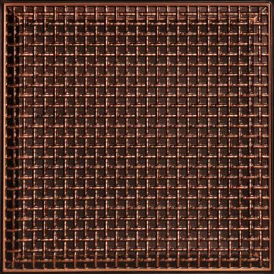 Rustic Lattice 2 ft. x 2 ft. PVC Glue-up or Lay-in Ceiling Tile in Antique Copper