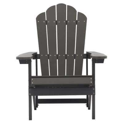Gray Reclining Adult Size Weather Resistant Campfire Outdoor Plastic Resin Polystyrene Adirondack Chair