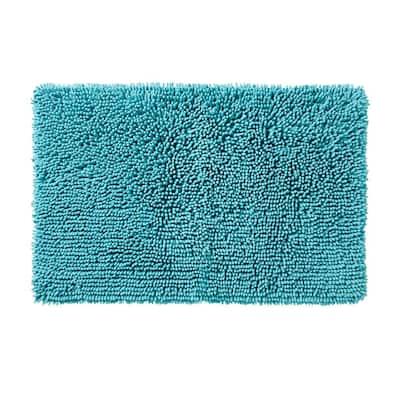 Ocean Watercolor Scales Rug,20 in. x 30 in., Aqua