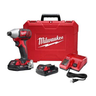 M18 18-Volt Lithium-Ion Cordless 1/4 in. 2-Speed Impact Driver Kit W/(2) 1.5Ah Batteries, Charger, Hard Case