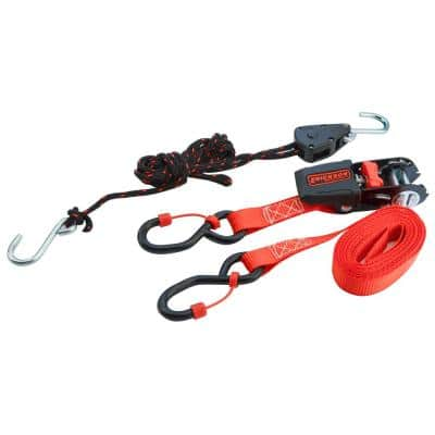 6 ft. x 1/8 in. Tite Rope with 10ft. x 3/4 in. Ratchet Strap (Combo-Pack)