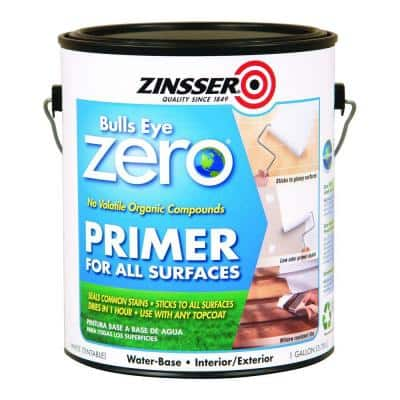 Bulls Eye Zero 1 gal. White Water-Based Interior/Exterior Primer and Sealer (2-Pack)