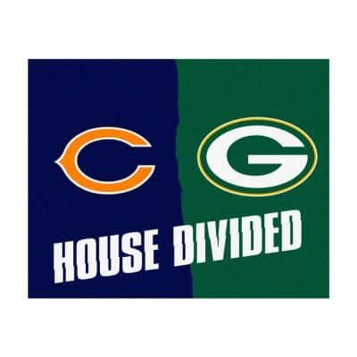 NFL Bears/Packers Navy House Divided 3 ft. x 4 ft. Area Rug