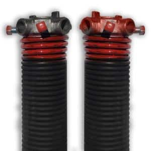 0.225 in. Wire x 1.75 in. D x 31 in. L Torsion Springs in Red Left and Right Wound Pair for Sectional Garage Doors
