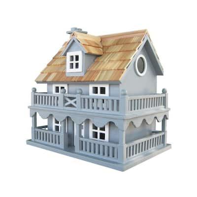 Novelty Cottage Birdhouse (Blue)