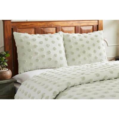 Athenia Collection in Polka Dot Design Tufted Chenille Comforter