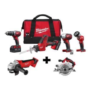 M18 18-Volt Lithium-Ion Cordless Combo Tool Kit (4-Tool) w/ Grinder and Circular Saw