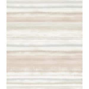 Fleeting Horizon Stripe Pink, Beige Paper Strippable Roll (Covers 56 sq. ft.)