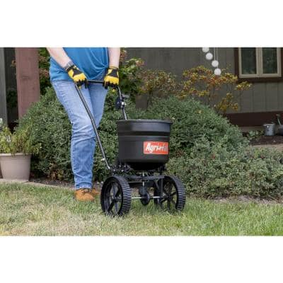 50 lbs. Capacity Side Deflector Push Broadcast Spreader for Seed, Fertilizer and Ice Melt