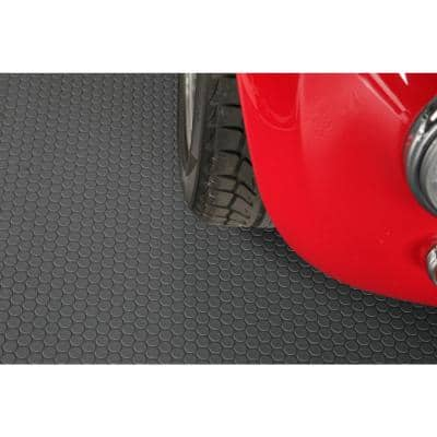 Small Coin 8.5 ft. x 22 ft. Slate Grey Commercial Grade Vinyl Garage Flooring Cover and Protector