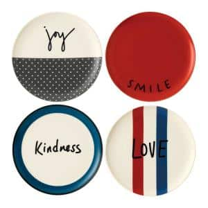 Joy Mixed 8 in. Accent Plates (Set of 4)