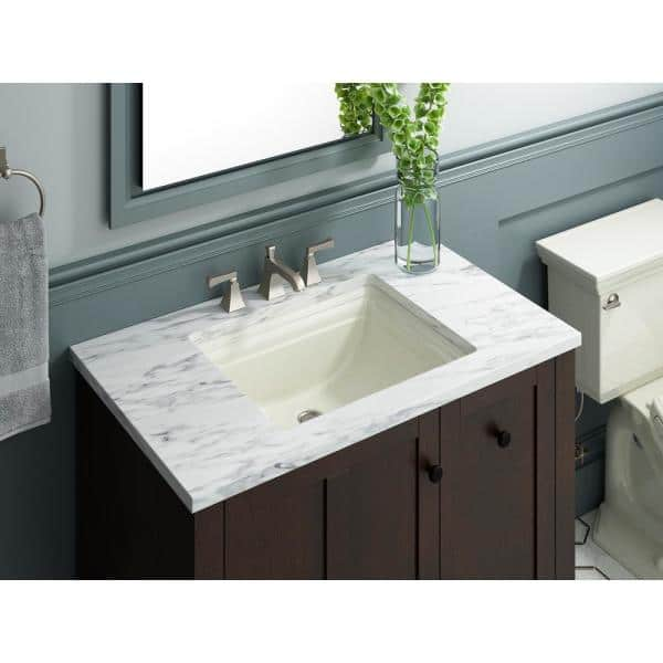 Kohler Memoirs Vitreous China Undermount Bathroom Sink In Biscuit With Overflow Drain K 2339 96 The Home Depot