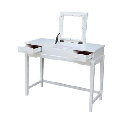 Pure White Vanity Table