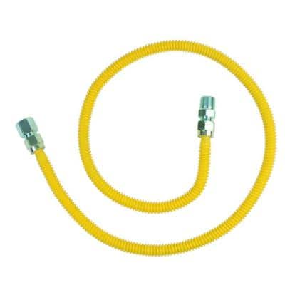 ProCoat 1/2 in. FIP x 1/2 in. MIP x 48 in. Stainless Steel Gas Connector 1/2 in. O.D. (60,500 BTU)