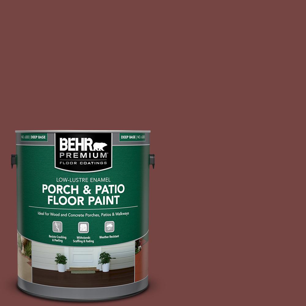 1 gal. #S130-7 Cherry Cola Low-Lustre Enamel Interior/Exterior Porch and Patio Floor Paint