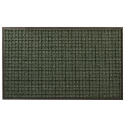 Guzzler Hunter Green 48 in. x 120 in. Rubber-Backed Entrance Mat