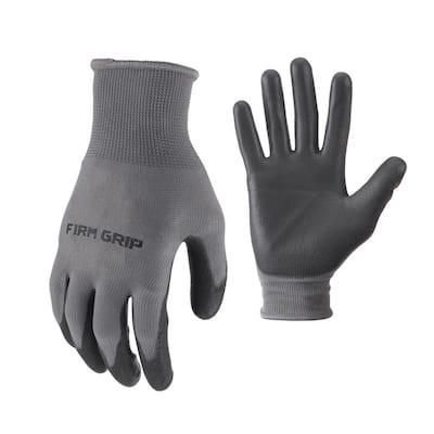 Large Polyurethane Grip Work Gloves (4-Pair)