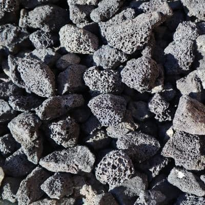 0.11 cu. ft. 10 lbs. 1/2 in. to 1 in. Black Decorative Lava Rock