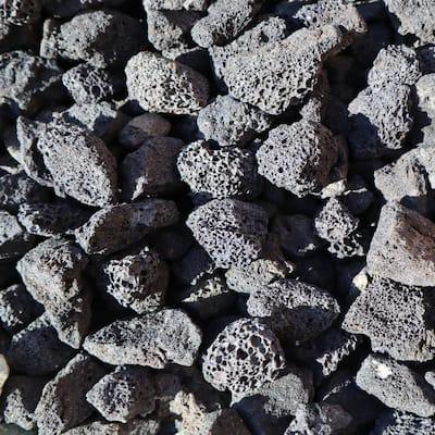 0.33 cu. ft. 30 lbs. 1/2 in. to 1 in. Black Decorative Lava Rock