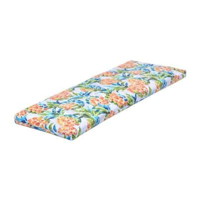 46.5 in. x 17.5 in. x 3 in. Pineapples Outdoor Bench Cushion