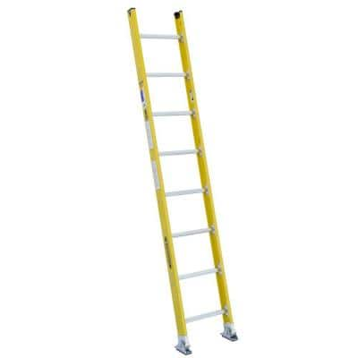 8 ft. Fiberglass Round Rung Straight Ladder with 375 lb. Load Capacity Type IAA Duty Rating
