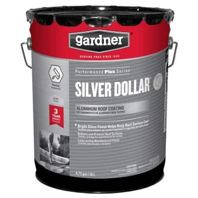 4.75 Gal. Silver Dollar Aluminum Roof Coating (18-pallet)